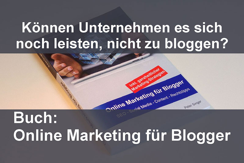 Buch Online Marketing für Blogger